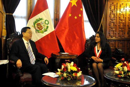 Presidente de la Asamblea Popular Nacional China, Zhang Dejiang en el congreso