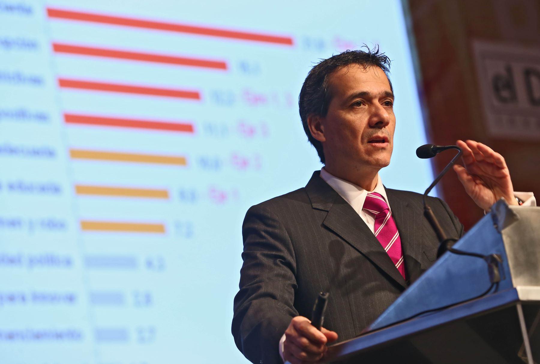 Ministro de Economía, Alonso Segura. ANDINA/Oscar Farje
