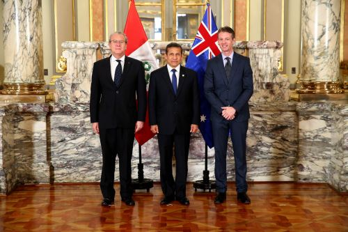Presidente Ollanta Humala recibió las cartas credenciales de los nuevos embajadores de Australia, Panamá, Francia y Guatemala