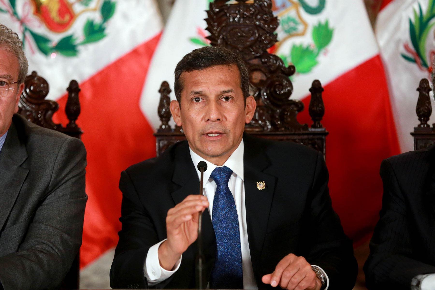 Presidente de la República, Ollanta Humala Tasso.