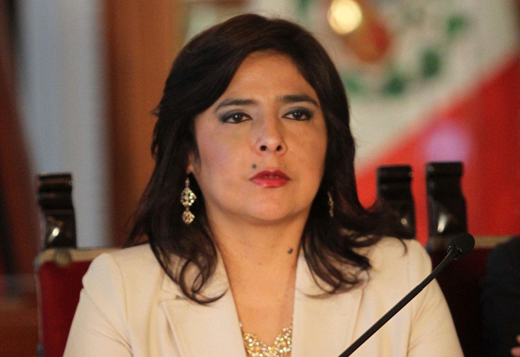 Presidenta del Consejo de Ministros, Ana Jara. ANDINA/Presidencia