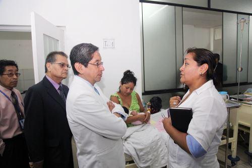 Ministro de Salud, Aníbal Velásquez. ANDINA/Difusión