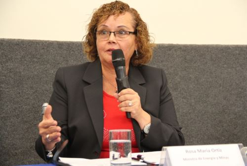Ministra de Energía y Minas, Rosa María Ortiz. Foto: Minem.