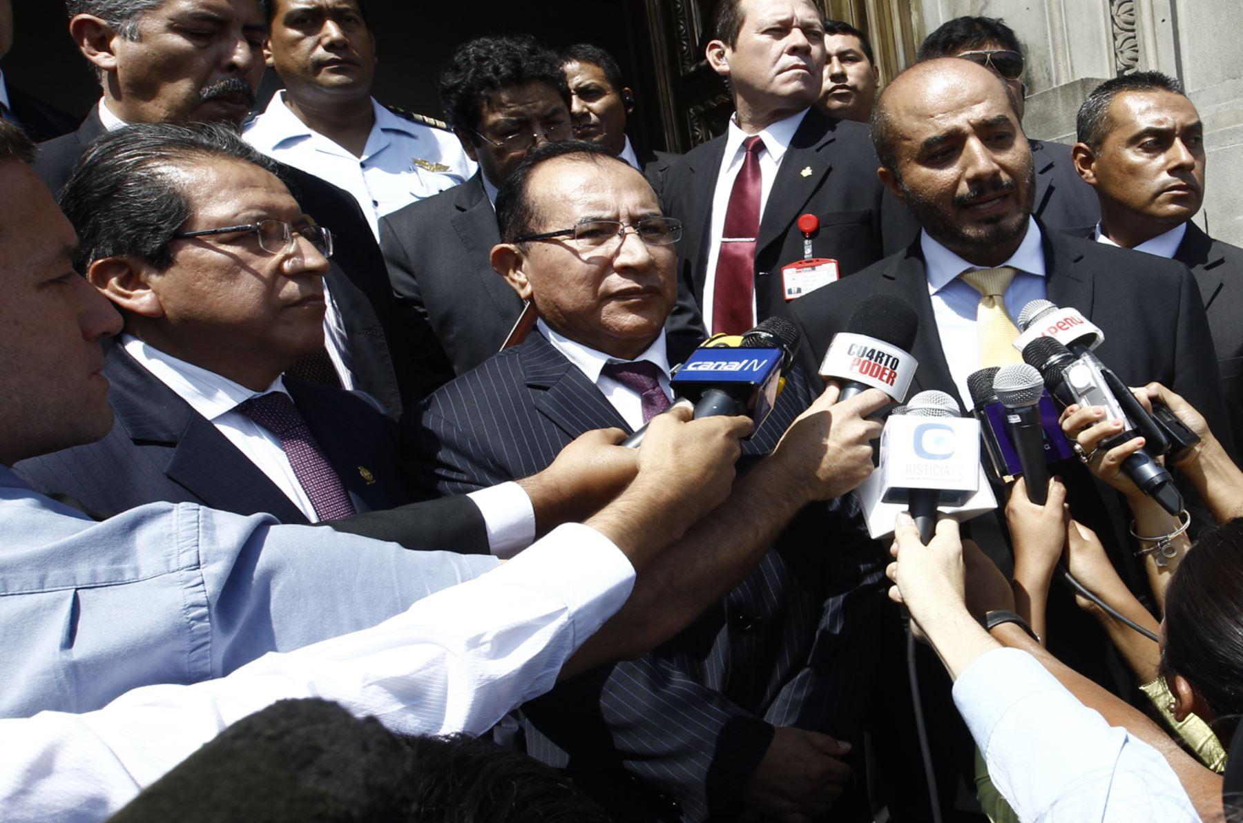 Ministro del interior presidente del pj y fiscal de la for Declaraciones del ministro del interior hoy