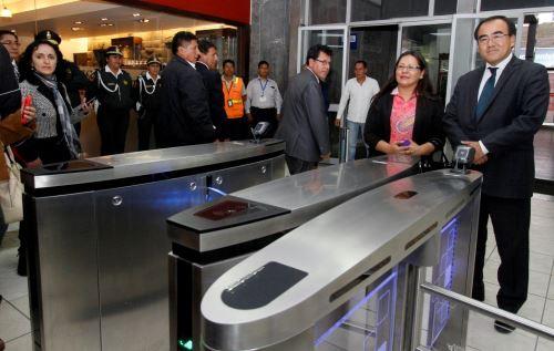 Se inauguraron obras de remodelación y ampliación del aeropuerto Alejandro Velasco Astete de Cusco. ANDINA/Percy Hurtado