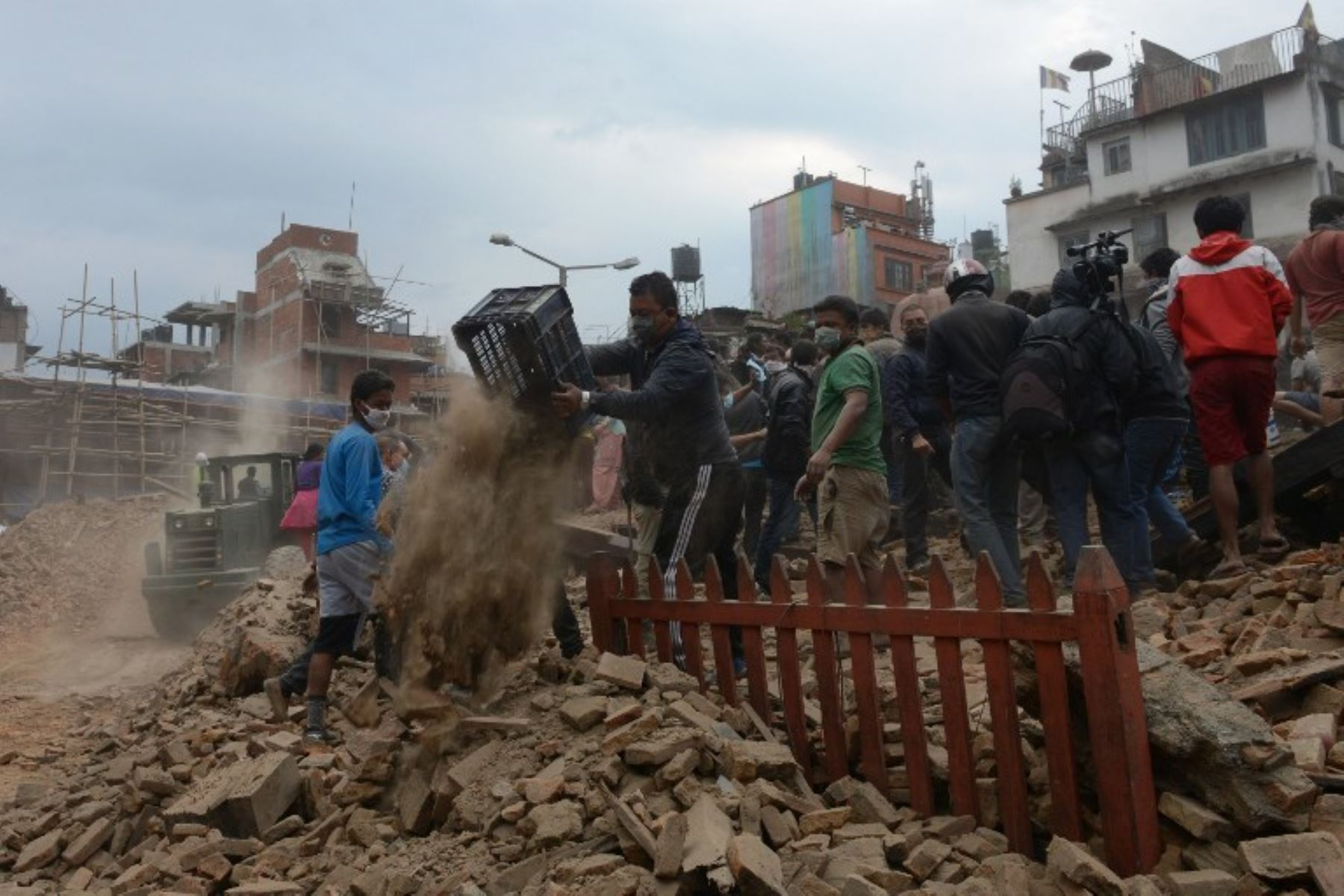 Katmandú fue la más afectada por terremoto. Foto: AFP.
