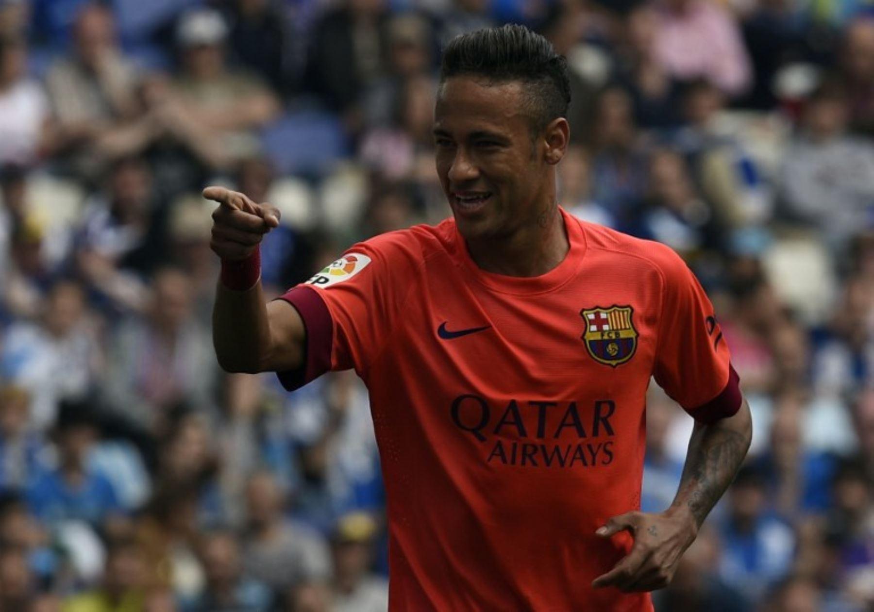 Barcelona venció 2-0 al Espanyol y consolida su liderato en la Liga española.Foto/AFP