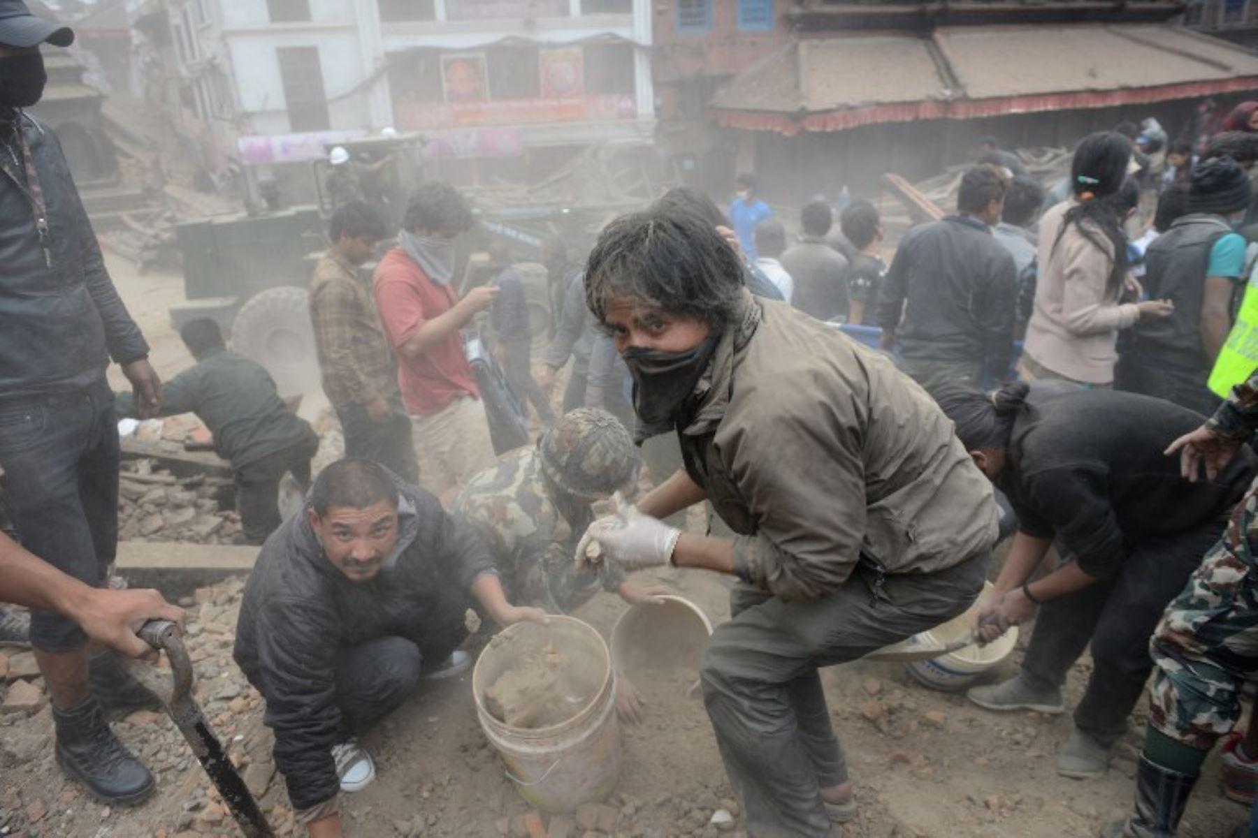 Desastre causado por terremoto de 7.9 de magnitud en Nepal. Foto: AFP.