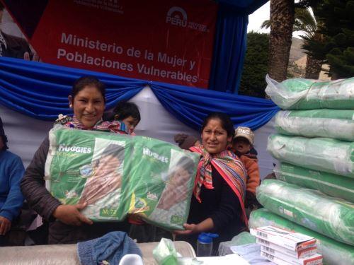 MIMP reinicia entrega de pañales en todo el país.