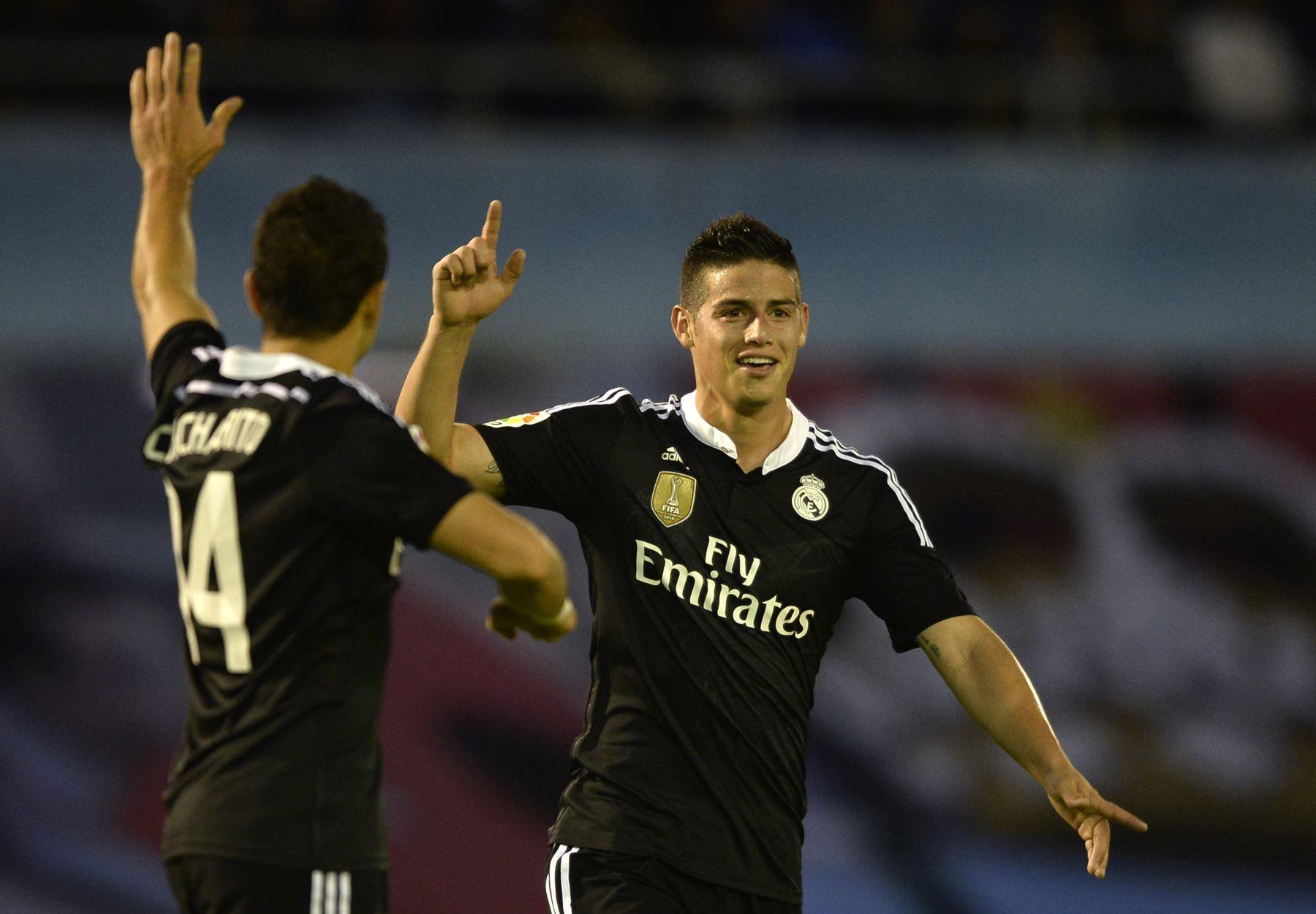 Con gol de James Rodríguez, Real Madrid derrotó 4-2 al Celta de Vigo. Foto: AFP