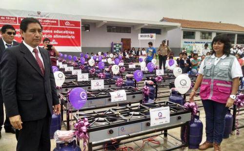 Qali Warma entrega 1,676 cocinas GLP a colegios en la región La Libertad. Foto: ANDINA/Difusión.