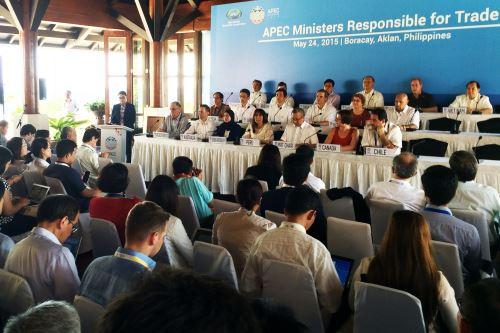Ministra de Comercio Exterior y Turismo, Magali Silva, durante reunión de ministros de la APEC. Foto: Mincetur.