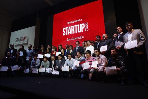 """LIMA,PERÚ-MAYO 26.Ministro Piero Ghezzi en Evento """"Startup Perú:Segunda Generación.Foto:ANDINA/Héctor Vinces."""