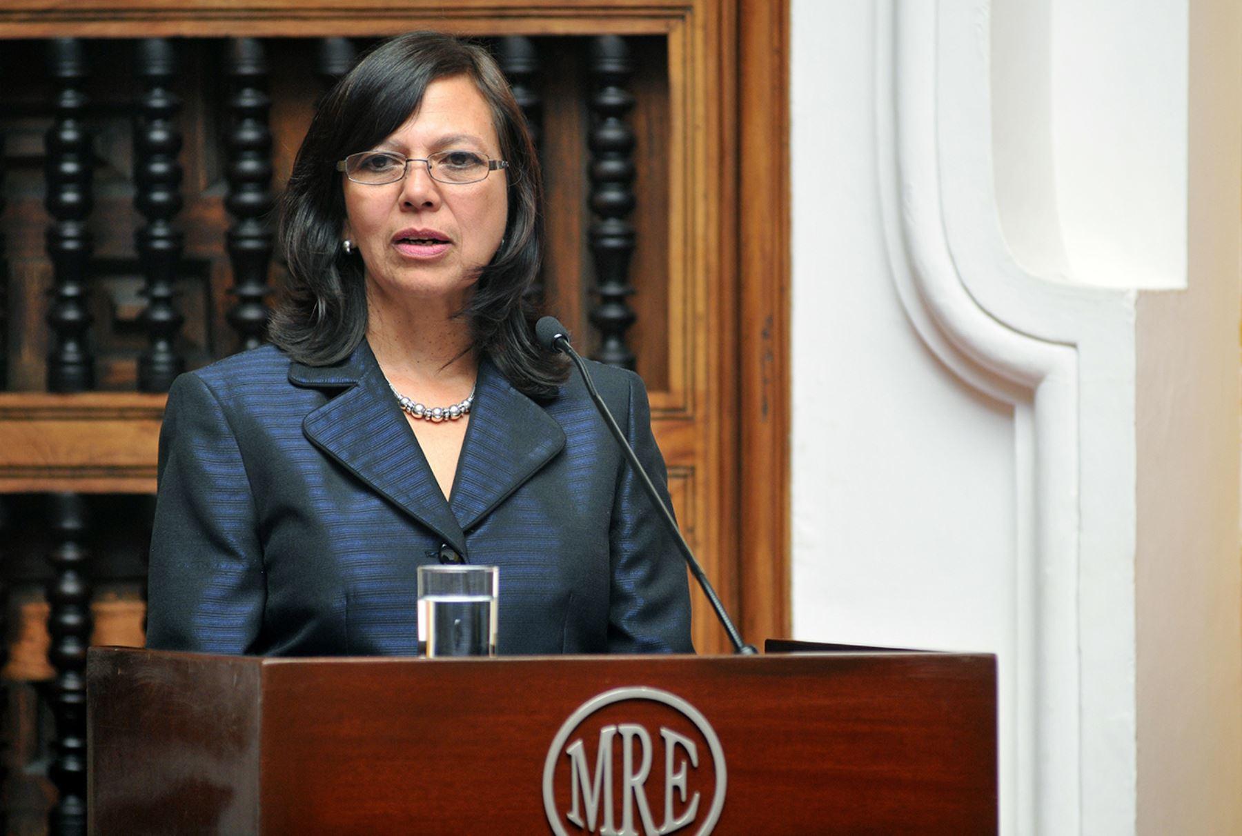 Canciller Ana María Sánchez.