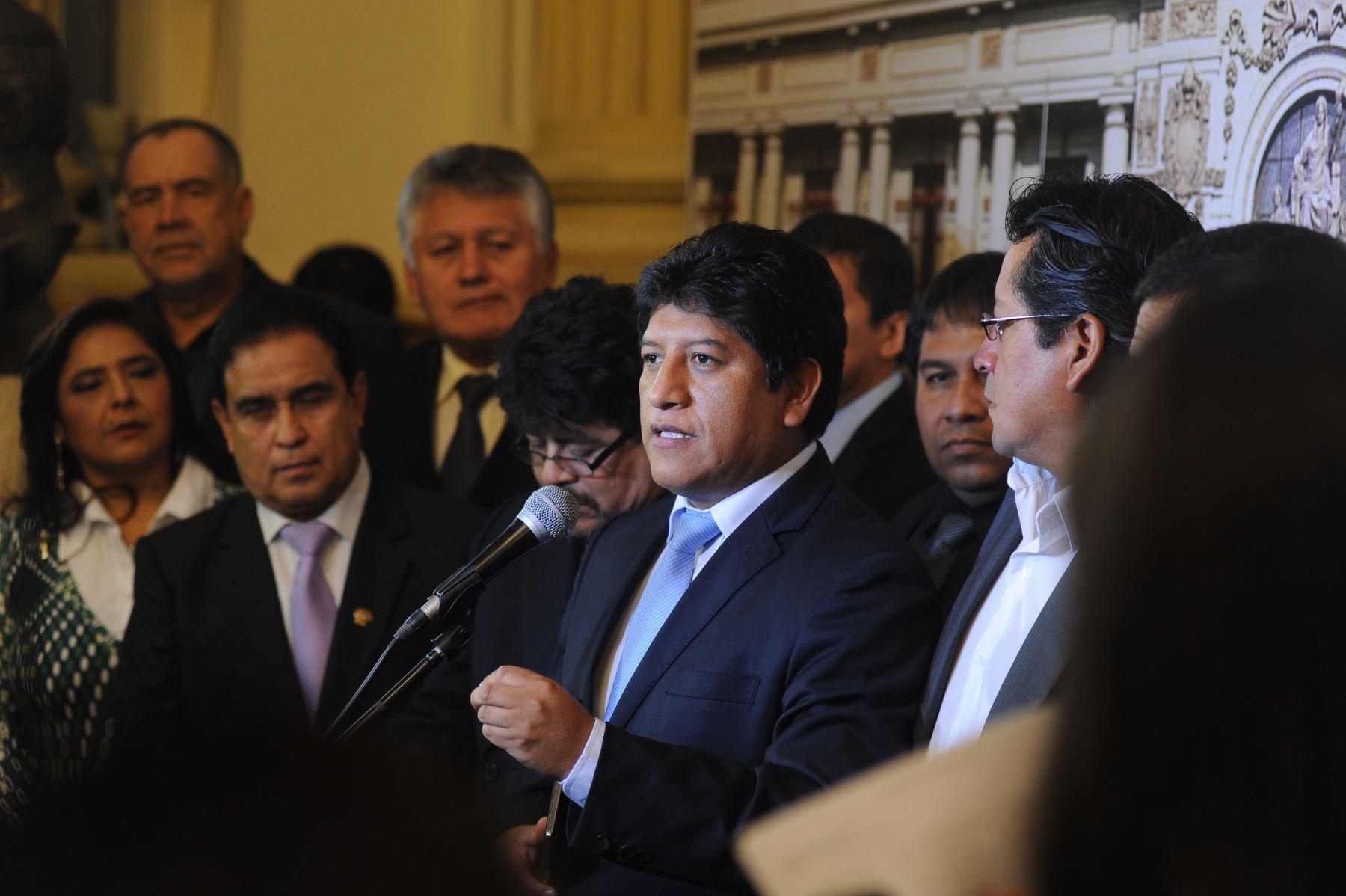 ANDINA/Difusión La bancada de Gana Perú respondió a las versiones sobre un supuesto enfrentamiento con el Gabinete por el Lote 192.