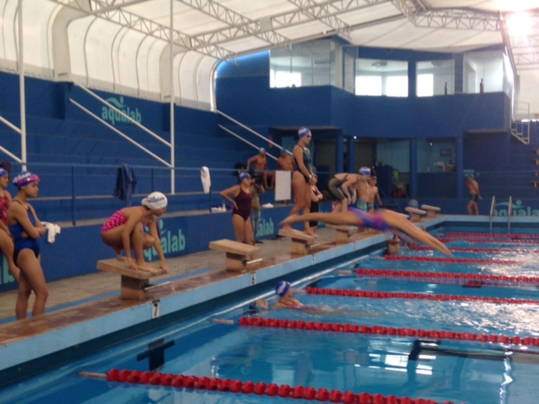 Remodelada piscina ol mpica de san borja ser a potencial sede de juegos panamericanos noticias - Medidas de una piscina olimpica ...