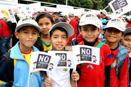 No al trabajo infantil dicen los menores. Foto: Difusión