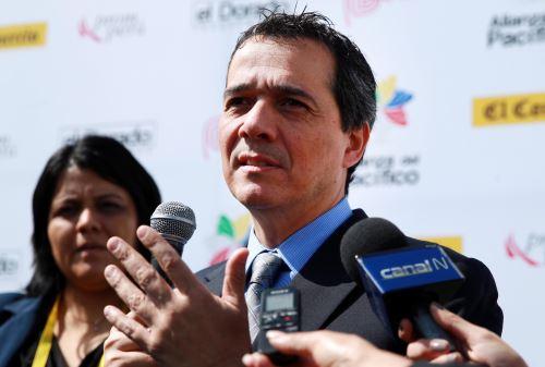 PARACAS, PERÚ - JULIO 2. Declaraciones del Ministro de Economía, Alvaro Segura en cumbre Alianza del Pacífico. Foto: ANDINA/Melina Mejía