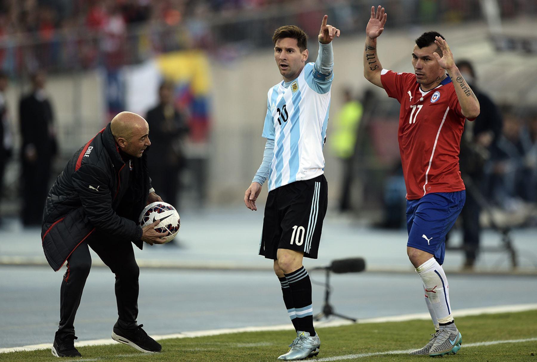 Partido final de la Copa América entre Argentina y Chile.  Foto: AFP