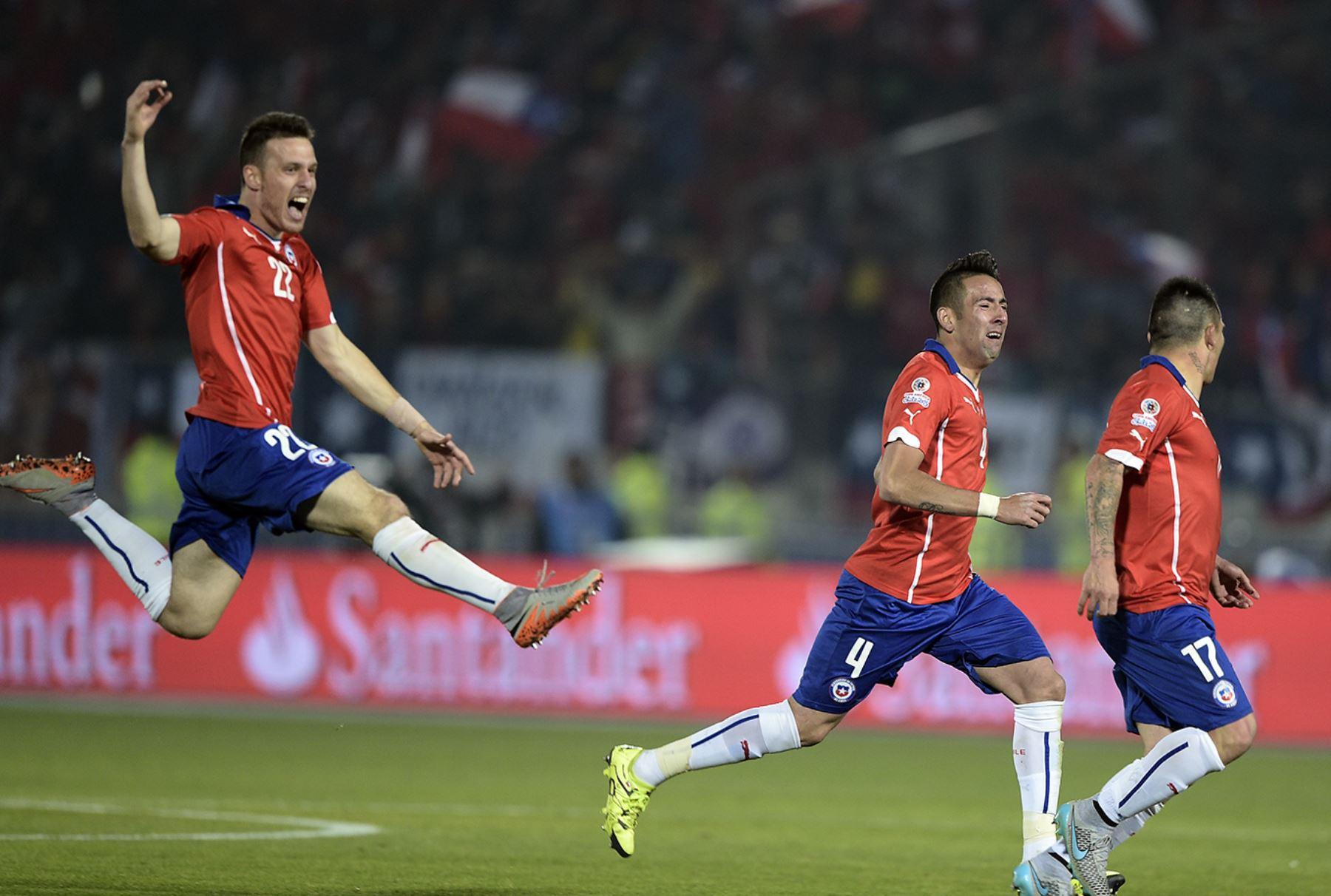 Selección chilena se corona campeona de América tras derrotar por la vía de los penales a Argentina.  Foto: AFP