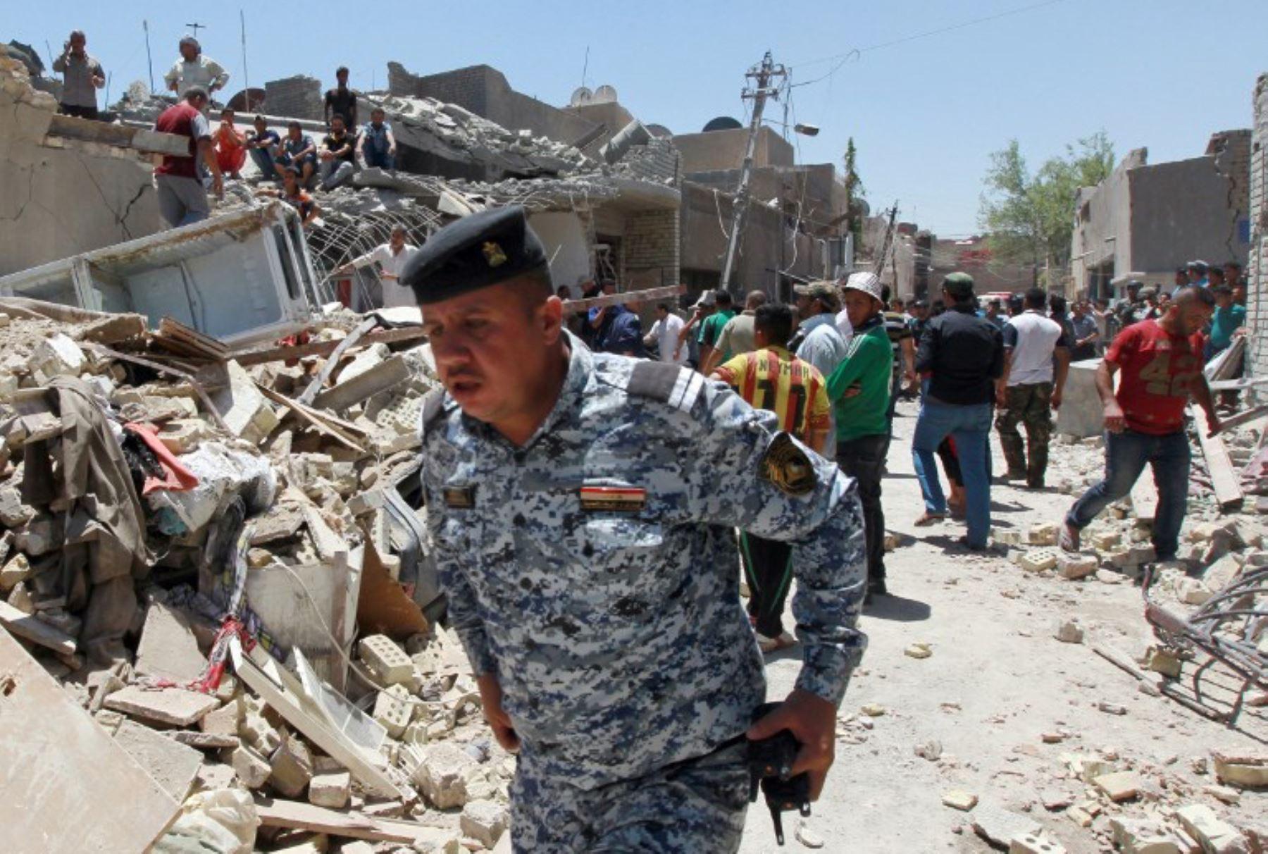 Avión militar iraquí bombardea por error Bagdad y deja siete muertos.Foto:AFP