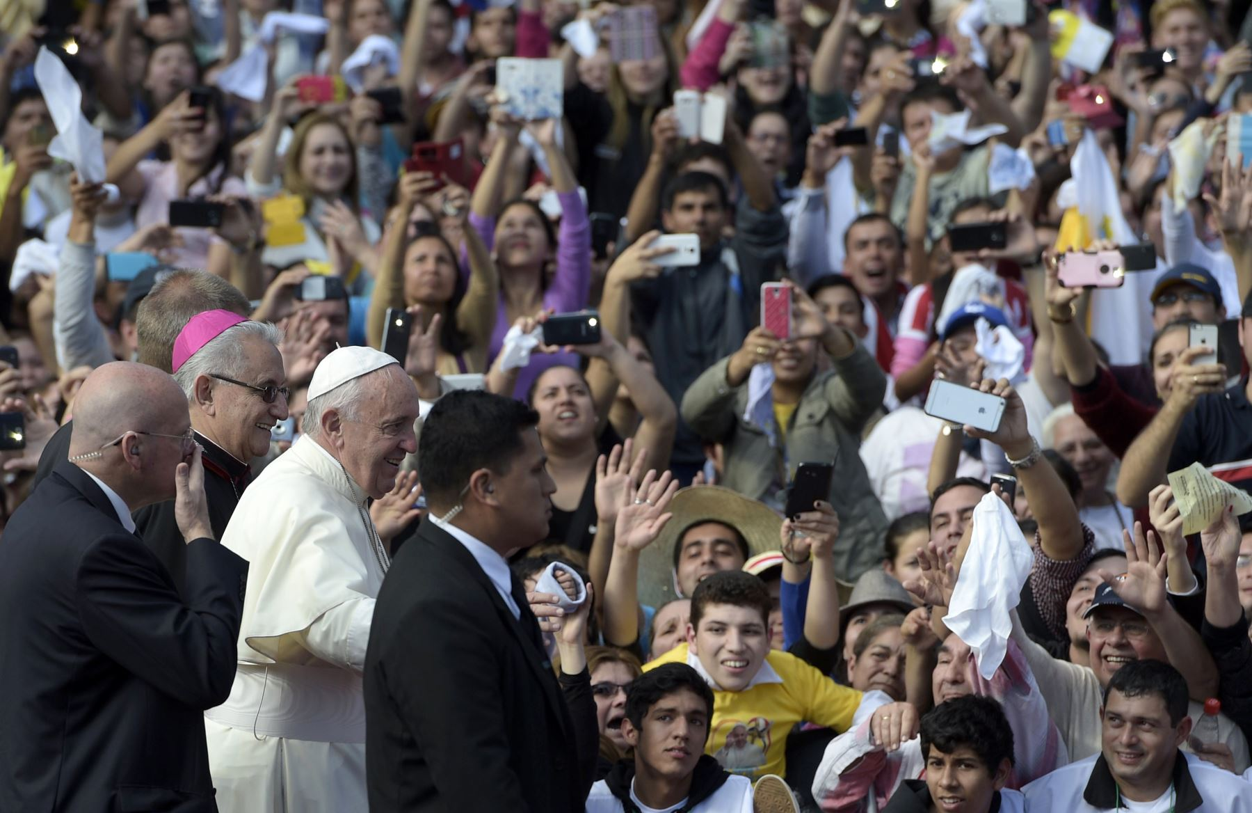 Pope Francis in South America