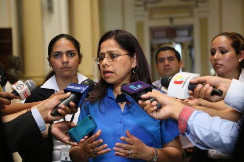 Ministra de la Mujer y Poblaciones Vulnerable, Marcela Huaita. ANDINA/Difusión