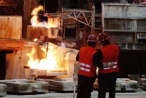 Producción de metales. Foto: MEM.