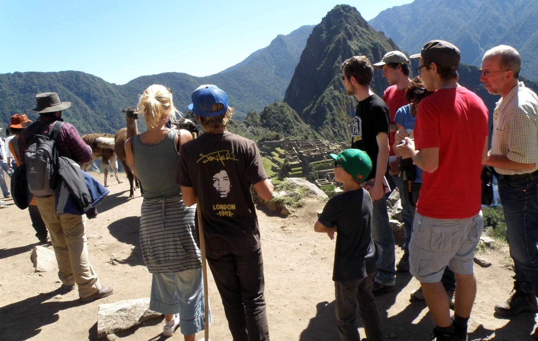 En esta época del año Machu Picchu es visitada por un mayor número de turistas extranjeros. ANDINA/Percy Hurtado
