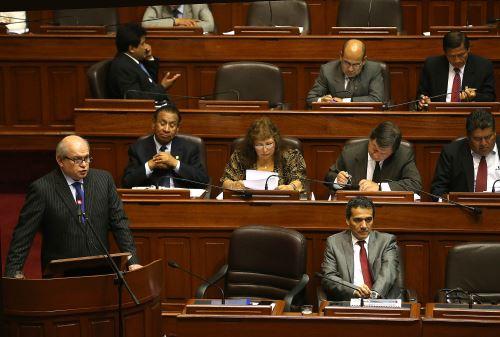 LIMA,PERÚ-AGOSTO 02. Pedro Cateriano presidente del consejo de Ministros presenta  presupuesto del año 2016.Foto: ANDINA/Vidal Tarqui