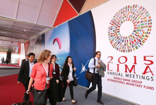LIMA,PERÚ- OCTUBRE 05. Hoy se inicia las Reuniones Anuales del Banco Mundial y FIM Internacional Foto: ANDINA/Melina Mejía