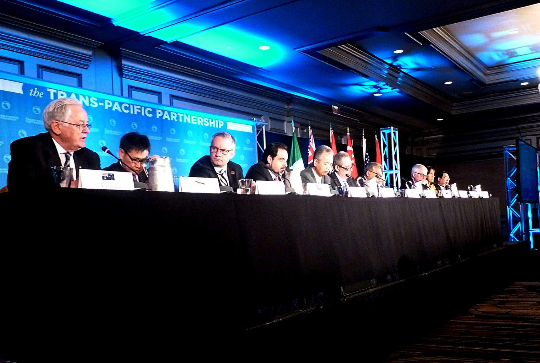 Delegados asistentes a la Asociación Trans-Pacífico (TPP)