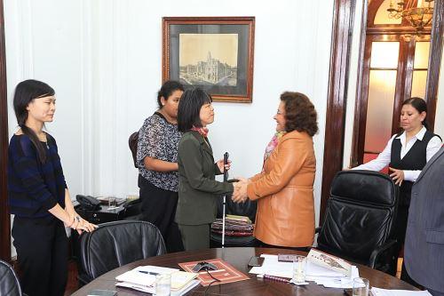 Misión de la ONU se reunió con autoridades judiciales. Foto: Difusión