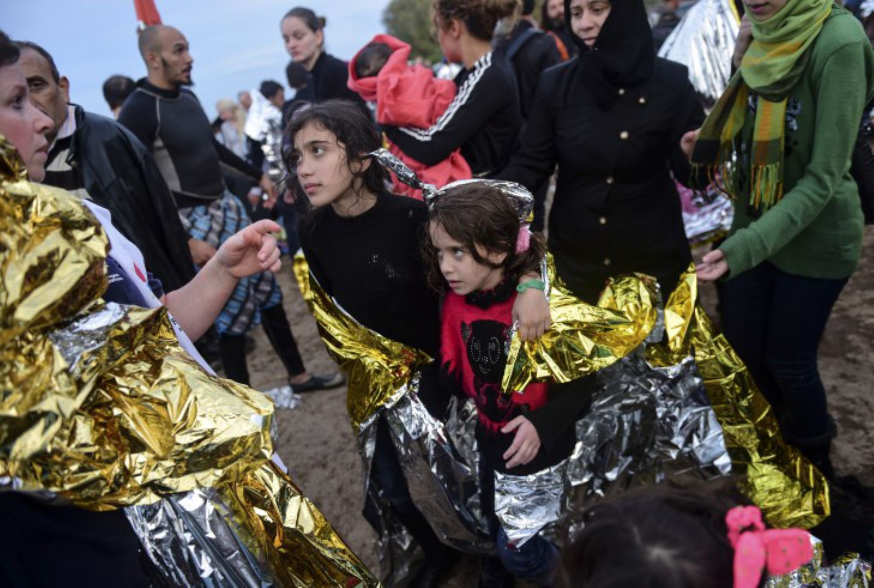Llegada de refugiados a la isla griega de Lesbos. Foto: AFP