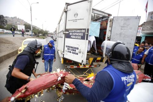 Gerencia de Fiscalización de Lima Metropolitana advierte que vendedores ilegales de pirotécnicos no invadirán el Cercado de Lima.
