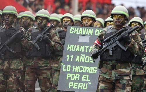 Los comandos Chavín de Huantar fueron los primeros en desfilar por la avenida de La Peruanidad en la Parada Militar por Fiestas Patrias.  Foto: ANDINA /Jack Ramón Morales