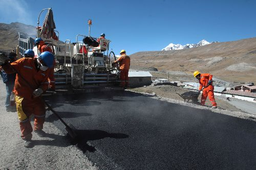 Road construction in Peru. Photo:ANDINA/ Archive/ Jack Ramón.