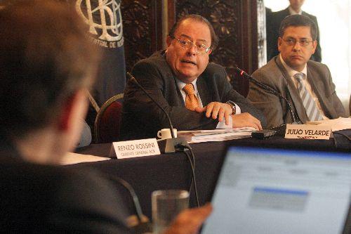 Central Bank President Julio Velarde. Photo: ANDINA / Rocio Farfan.