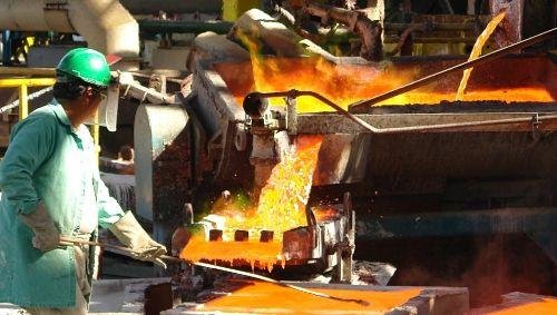 Producción de oro.
