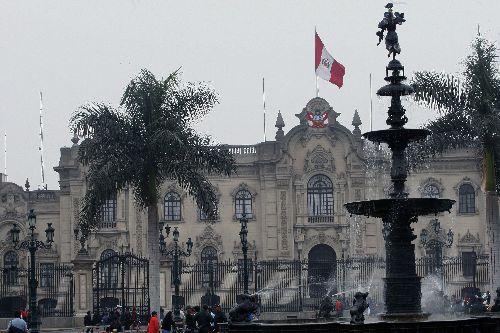 Fachada de Palacio de Gobierno  Foto: ANDINA/Norman Córdova