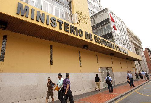 Fachada del ministerio de Economía y Finanzas.Foto: ANDINA/ Cesar García