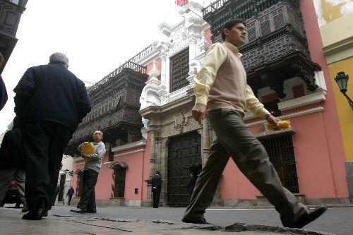 Palacio de Torre Tagle en el centro de Lima. Foto: ANDINA/Archivo.