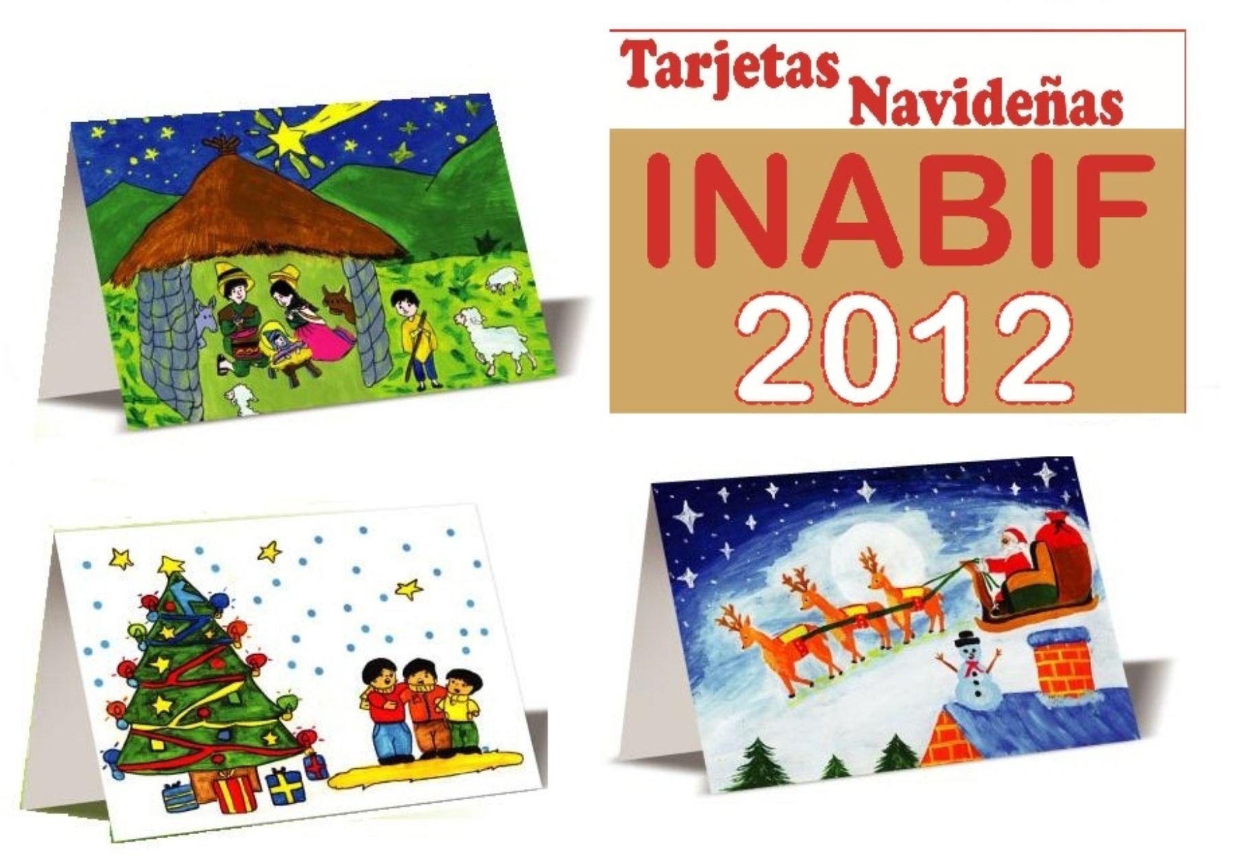 Inabif presentar este martes dibujos ganadores que - Dibujos tarjetas navidenas ...