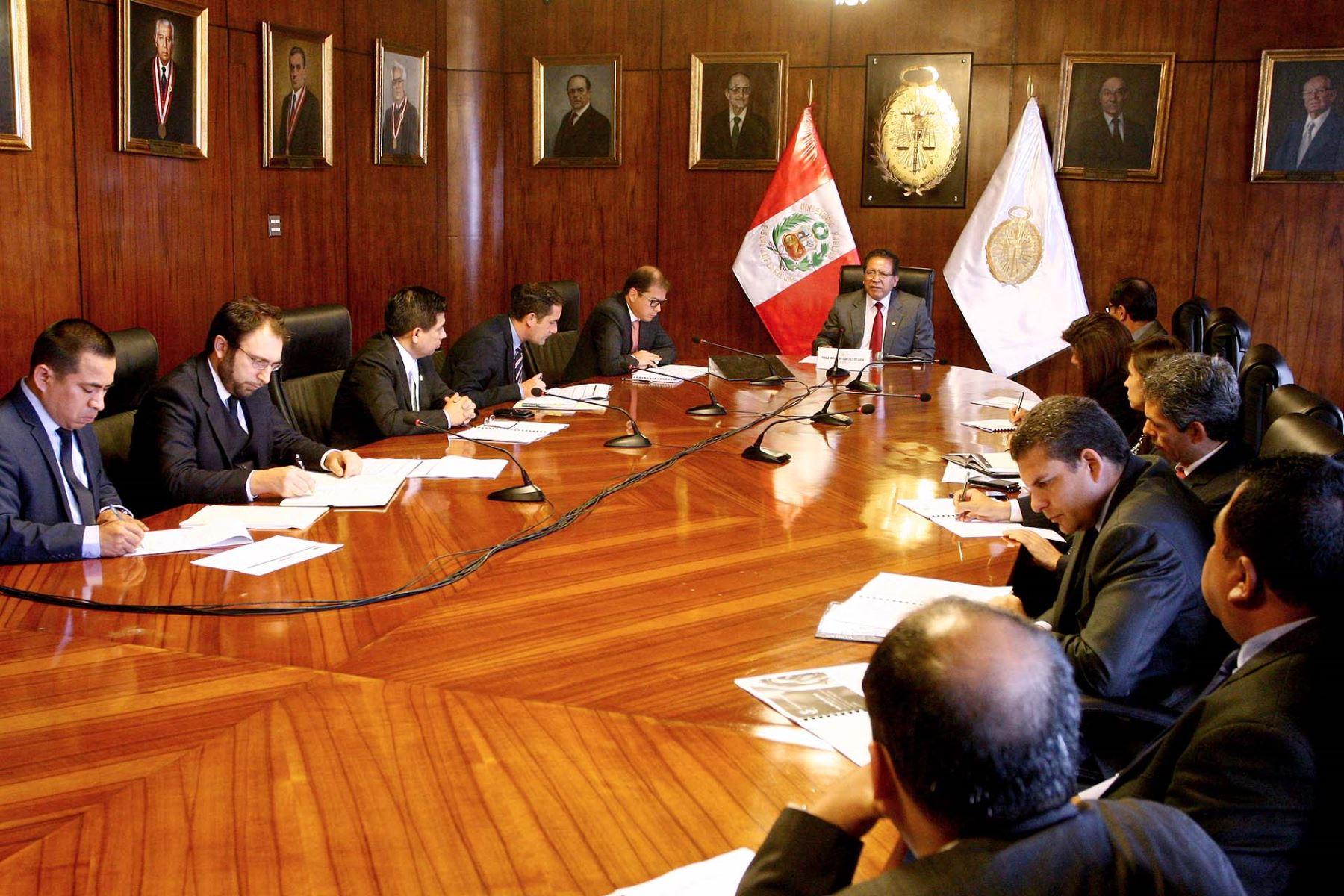 Fiscal de la Nación, Pedro Sánchez, instaló la comisión que se encargará de proponer el diseño, organización y estructura de la Oficina de Análisis Estratégico de la Criminalidad. ANDINA/Difusión