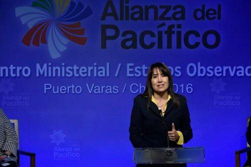 Ministra de Comercio Exterior y Turismo, Magali Silva. Foto: Difusión.