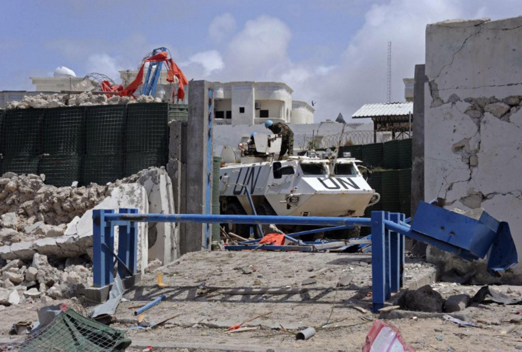 13 personas murieron el 26 de julio en dos bombardeos cerca de edificios de la ONU y de la Unión Africana. Foto: AFP