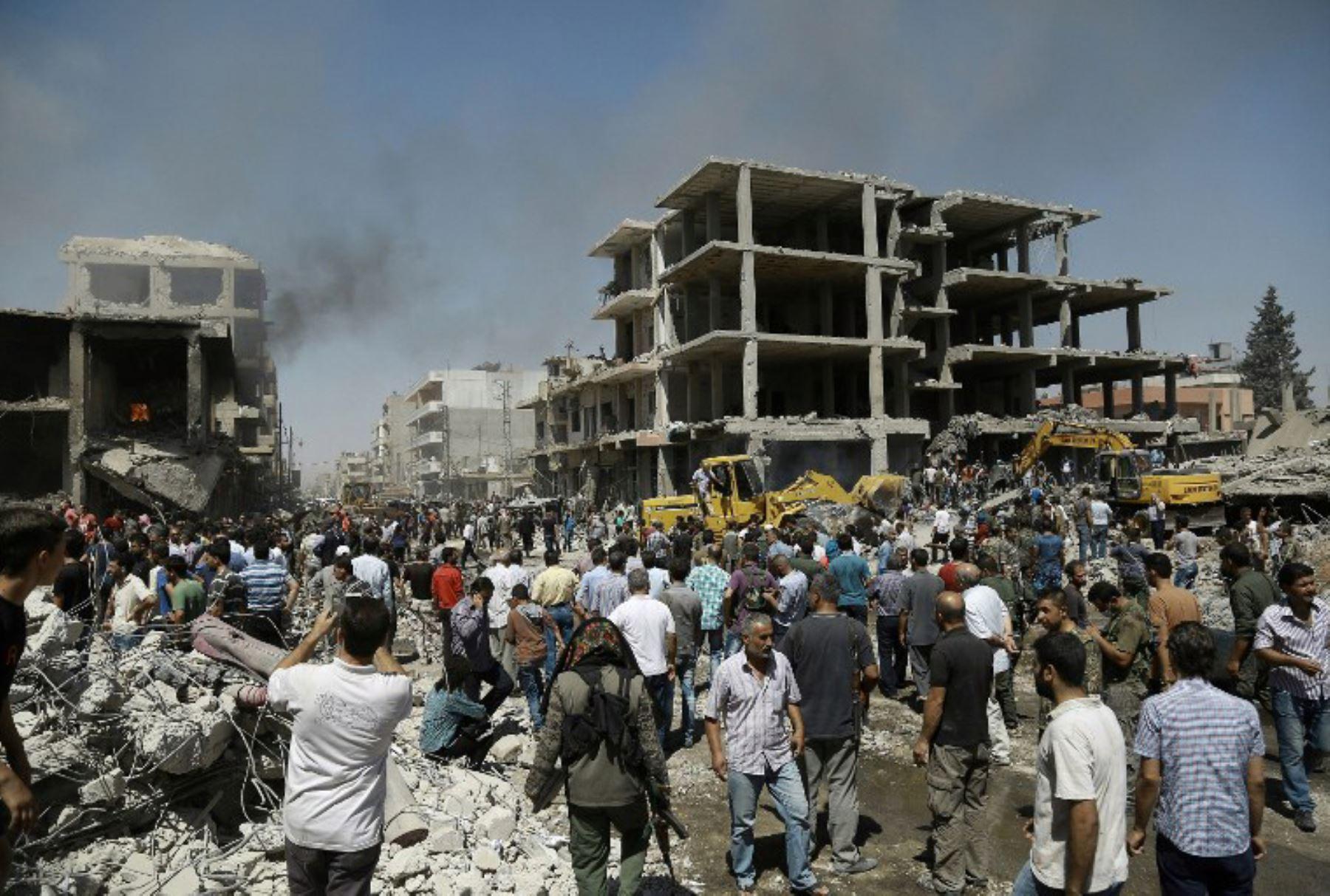 Un ataque doble bomba mató al menos 14 personas, en el noreste de Siria. Foto: AFP