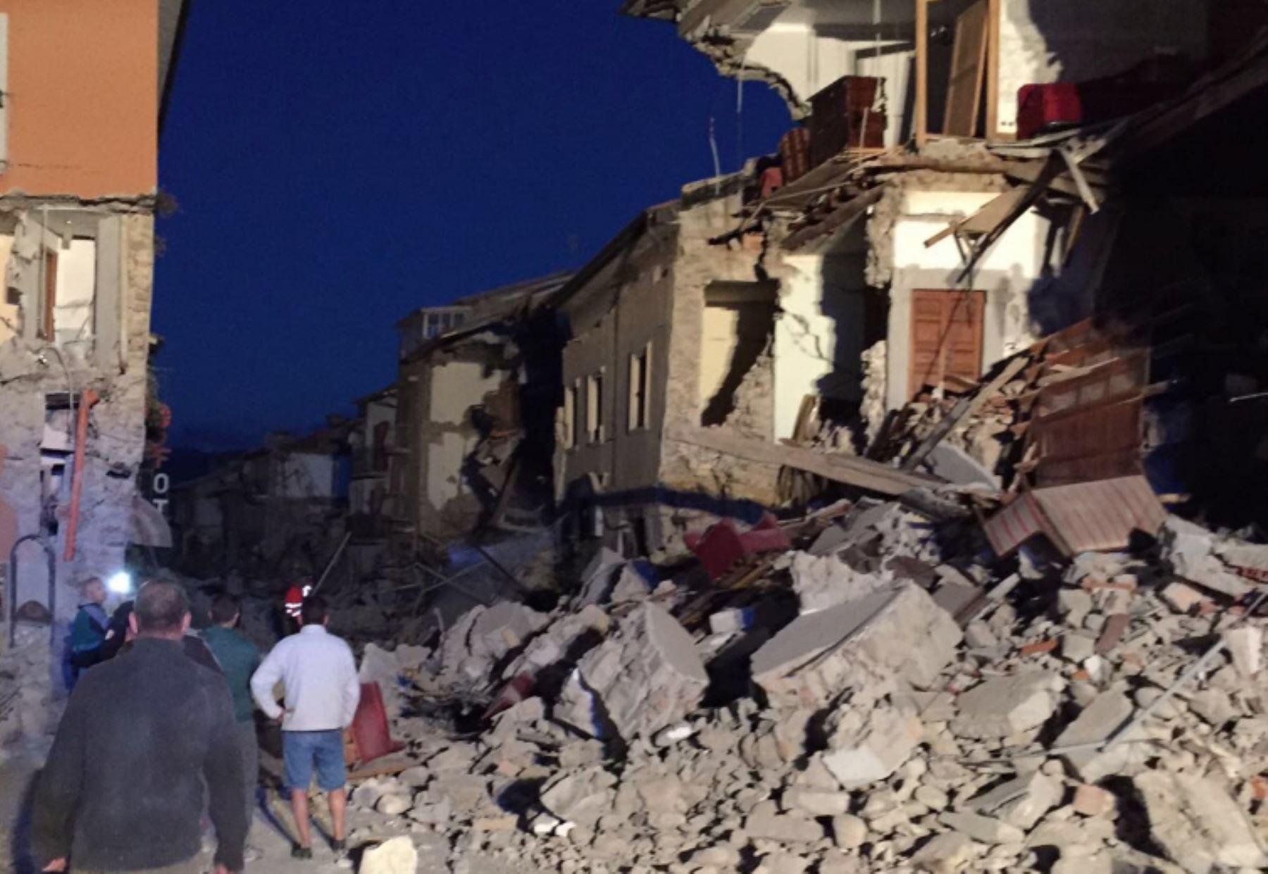 Terremoto Italia.Foto: INTERNET/Medios