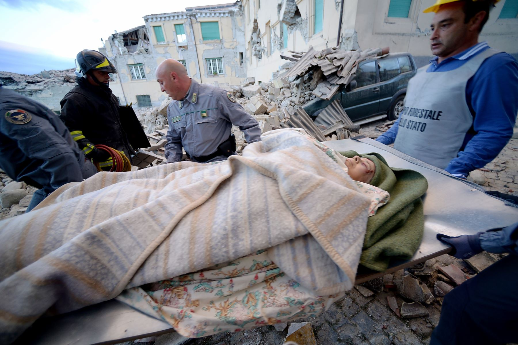 Terremoto Italia.Foto: AFP
