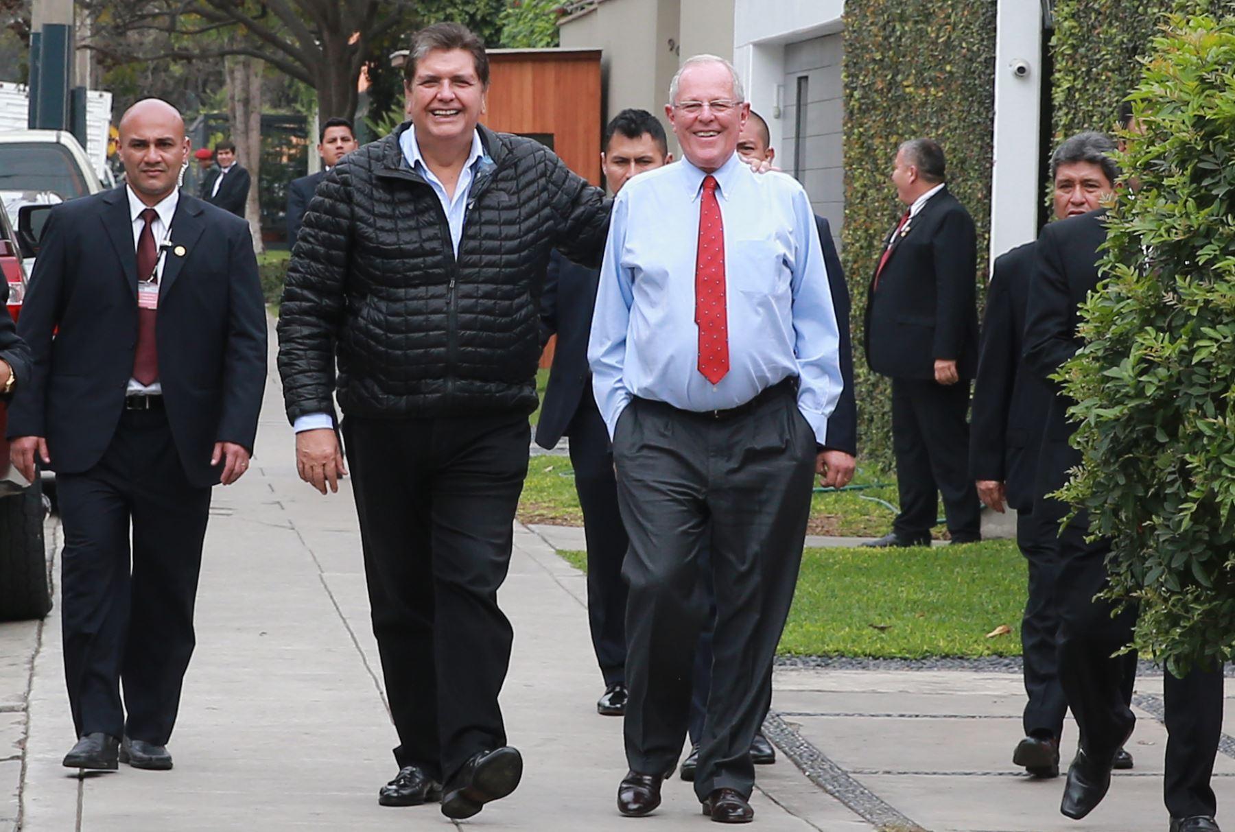 LIMA,PERÚ-AGOSTO 29. Presidente Pedro Pablo Kuczynski se reúne con Alan García Foto: ANDINA/ Jhony Laurente